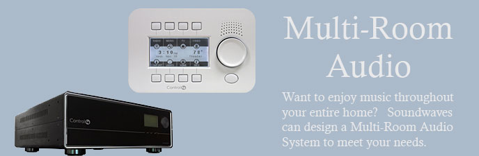 Want to enjoy music throughout your entire home?  Soundwaves can design a Multi-Room Audio System to meet your needs.